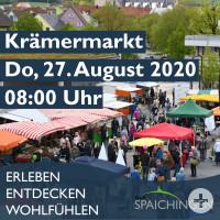 """Bild mit Aufschrift """"Kraemermarkt, Do. 27 August 2020, 08.00Uhr"""""""