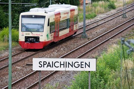 Bahnhof Spaichingen mit Ringzug